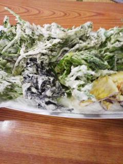 山小屋の山菜まつり
