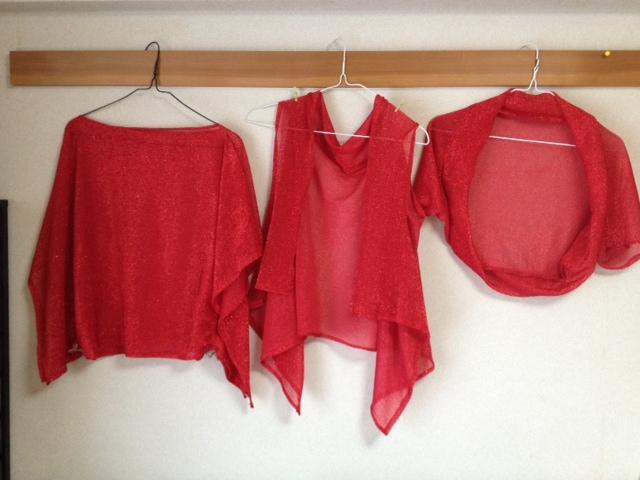 赤ラメの布